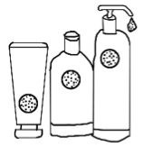 Soap and Shampoo containers